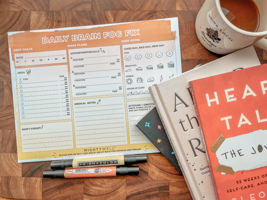 Mighty Well | daily planner pad | Brain Fog Fix | your brain's new BFF | keeping organized with brain fog | take a load off your mind